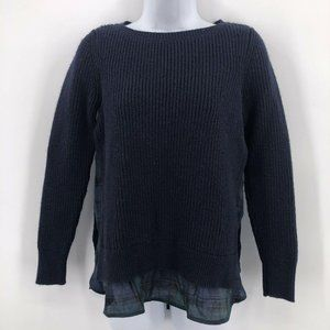 Ann Taylor Loft Navy Slim Fit Layered Sweater